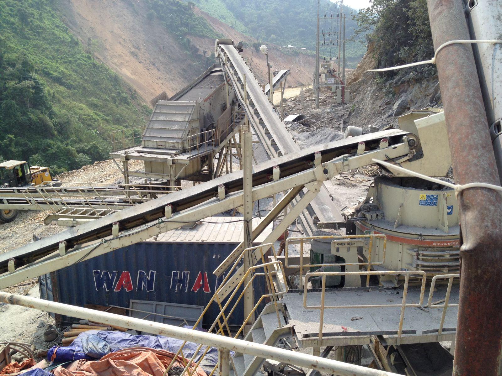 Sản xuất cấp phối Bê tông đầm lăn tại thủy điện Lai Châu từ máy nghiền Barmac VSI Metso