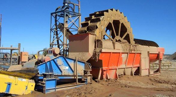 Máy rửa cát đồi kiểu bánh xe, tỷ lệ đất và hữu cơ vẫn còn rất nhiều