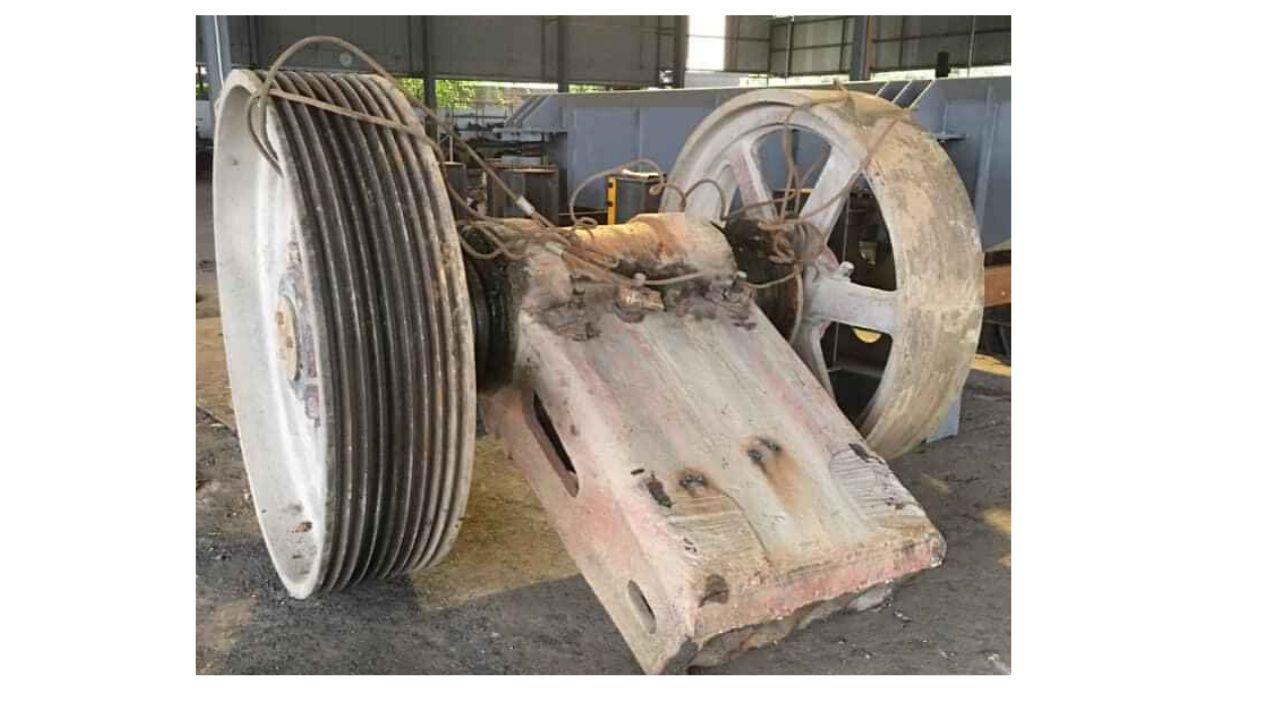 Máy nghiền của Nhật bãi bị gãy khi đang vận hành tại mỏ