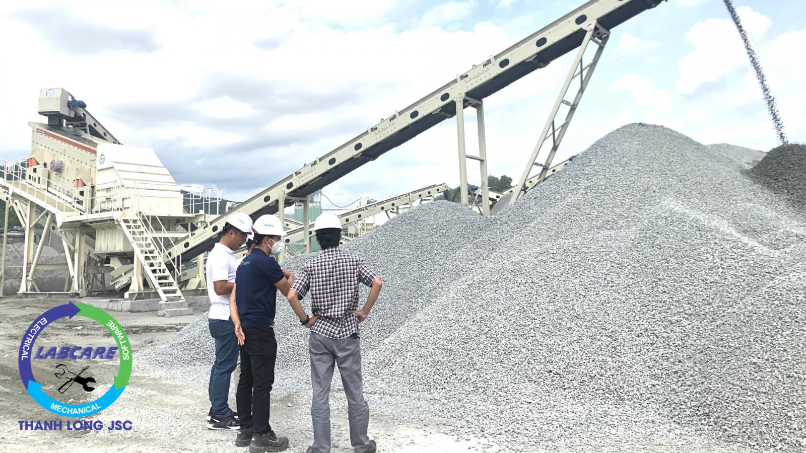 Dây chuyền nghiền đá xây dựng Metso 350 tấn/ giờ